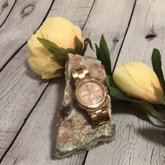 🌹 AUTHENTIC Michael Kors Bel Aire Rose Gold Watch